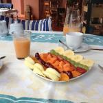 Café da manhã com frutas