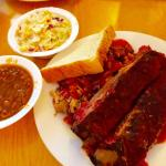 Pulled pork and ribs combo. Amazing!!!