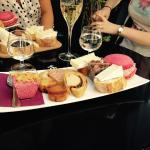 Regional Specialities Plate & Cheese Plate with Champagne