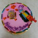 Bing's Abby & Elmo PINK birthday cake top view