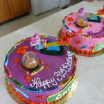 Abby & Elmo Birthday cakes Side view
