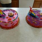 Abby & Elmo Birthday cakes rear view