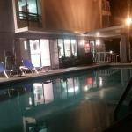 Loved the pool at night!