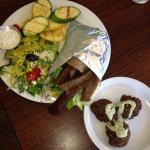 Gyro plate and side of falafel!!