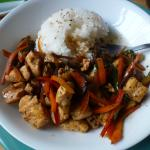 This chicken teriyaki is DE-licious and a generous amount