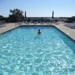 Nice warm salt-water pool!