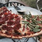 A taste of Italy, perfect pizza at Artistic Cuisine half meat lovers / prosciutto and arugula