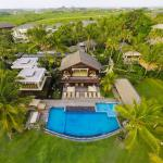 Villa Semarapura - Aerial - High Left Side of the Garden