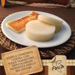 Inhame com queijo coalho assado