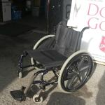 Perfectly good wheelchair donated to Goodwill.