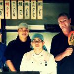 Ian and the awesome japanese chefs :)