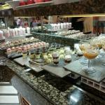 Buffet de sobremesas do jantar