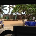 widok z restauracji w stronę oceanu