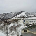斑尾高原スキー場を望む 右側の白いホテルはダイヤモンド斑尾