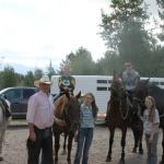 Kent, Kylie & Kennedy were the best on our trail ride!