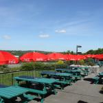 our summer outdoor seating area with beautiful view