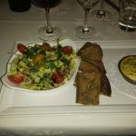 Saint marcellin en salade