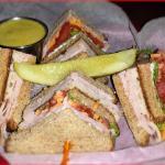 Club Sandwich w/ Honey Mustard Dipping Sauce