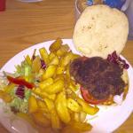 Kangaroo burger. Before