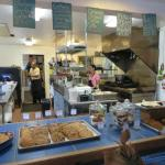 Open kitchen and baked goods