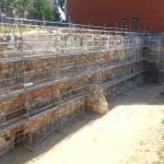 Restos muralla islámica en restauración.