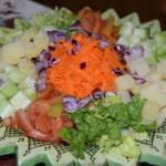 Petite salade en entrée
