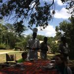 The property was amazing and overlooked the river with hippos! They set up lunch under a shaded