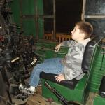 My son in an engine!