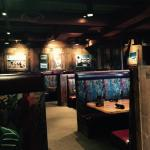 Interior of black angus restaurant