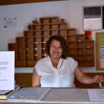 Our reception-lady Litsa