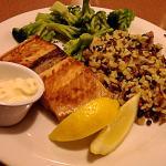 Salmon dinner - avoid the broccoli