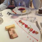 Foie gras à la rhubarbe