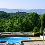 Swimming pool with the mountain view