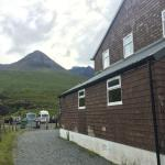 The hostel with a view of the Black Cuillins