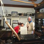 Printing their own copy of the Declaration of Independence!