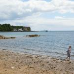 Aberdour Beach looking toward Firth of Forth Hotel