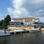 View of restaurant from the dock