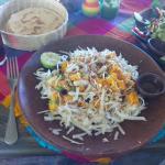 Ensalada de mango, jícama y coco