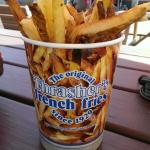 Thrashed fries are delicious