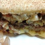 Seriously, this patty melt looks awesome and just the thought of it dripping with Velvetta has m