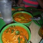 Spicy Shrimp and Scallop Curry and Red Chicken Curry