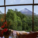 Arenal Volcano and gardens views