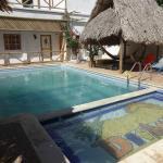Pool area and hammocks