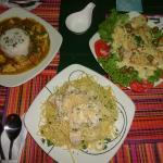 Our food from the Divanga restaurant