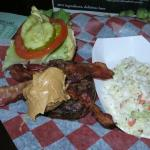 Bukowskis peanut butter and bacon burger