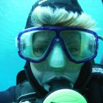 Scuba diving in the Grunersee 43 degrees F