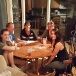 Playing cards at the birdhouse cottage