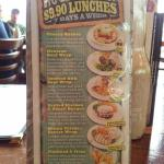 Cheap lunch menu