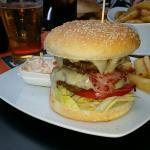 Great burger at Mel's Bar