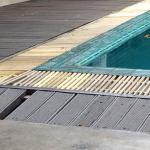 État de délabrement de la piscine